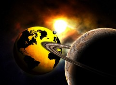 Wallpapers Digital Art Gold Earth