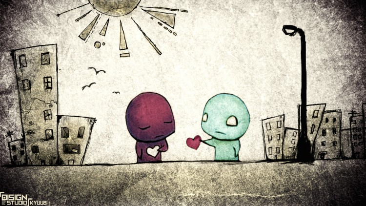 Wallpapers Digital Art Love - Friendship in love !!!