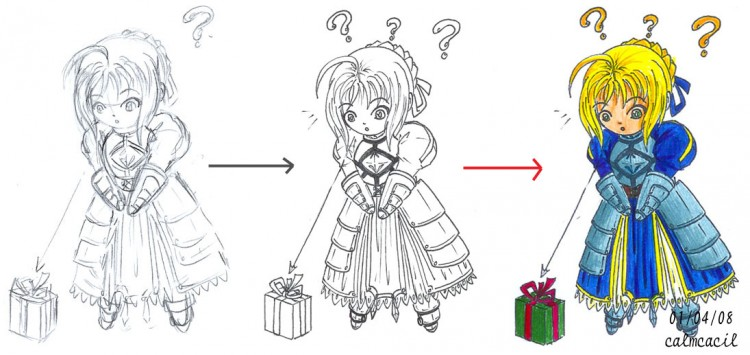 Fonds d'écran Art - Crayon Manga - Fate Stay Night Wallpaper N°276794