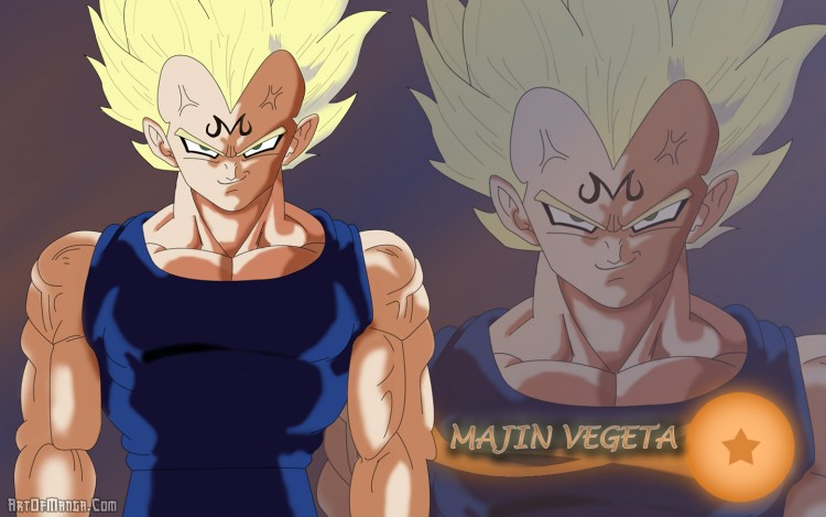 Fonds d'écran Manga Dragon Ball Z Majin Vegeta