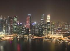 Fonds d'écran Voyages : Asie Singapour de nuit