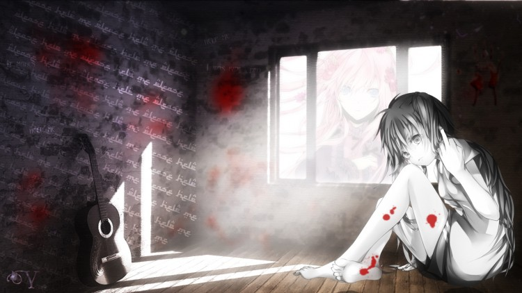 Fonds d'écran Manga Vocaloïds ¤ The black stories ¤