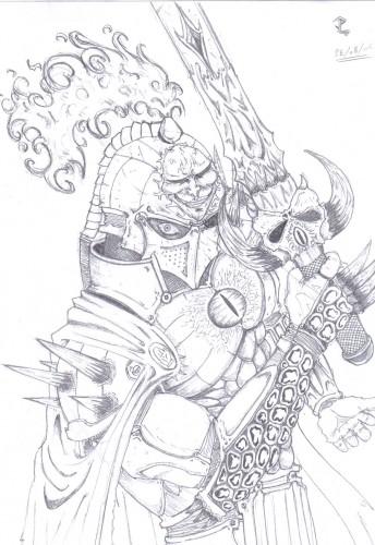 Wallpapers Art Pencil Wallpapers Fantasy Warriors Chevalier