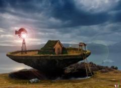 Fonds d'écran Art - Numérique Ile flottantes