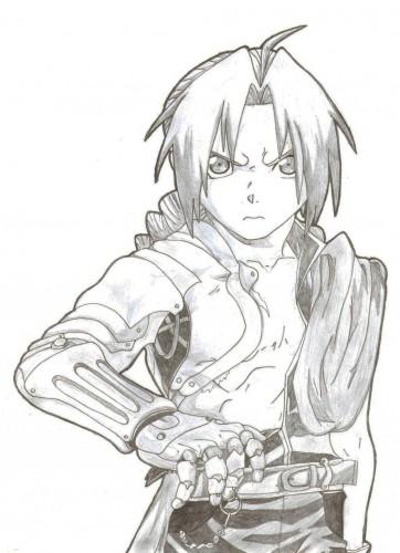 Wallpapers Art - Pencil Manga - Full Metal Alchemist Edward Elrick