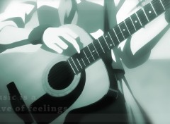 Fonds d'écran Manga [Nardoum] Angel Beats Guitare 2