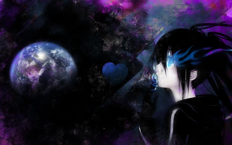 Fonds d'écran Manga Black Rock Shooter Kiss to Earth