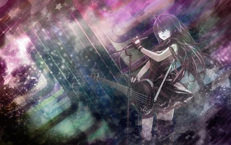 Fonds d'écran Manga K-ON! Akiyama Mio Akiyama Mio