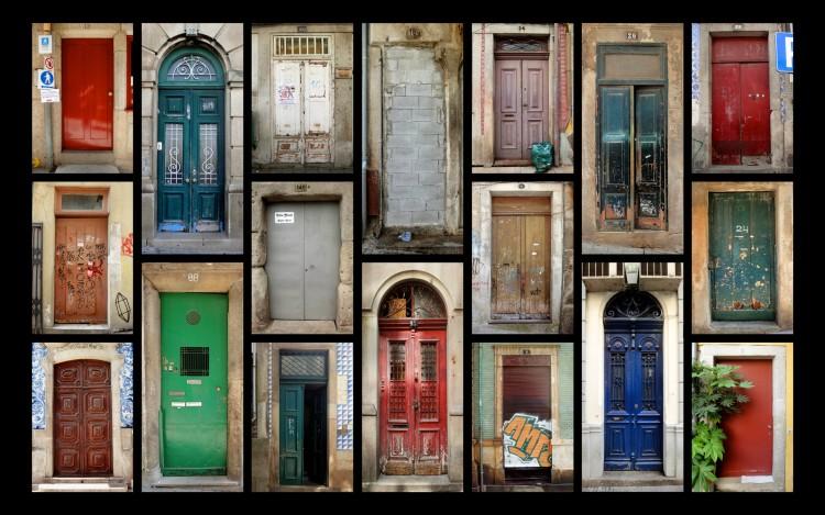 Fonds d'écran Constructions et architecture Portes - Fenêtres - Porches Porte à Porte à Porto