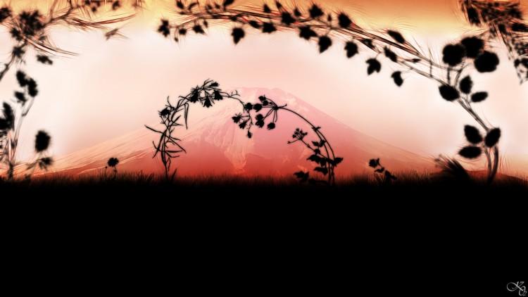 Fonds d'écran Art - Numérique Style Zen fuji love