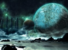Wallpapers Fantasy and Science Fiction Khyra vu d'un de ces satellites