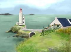 Fonds d'écran Art - Peinture le phare du Minou près de Brest