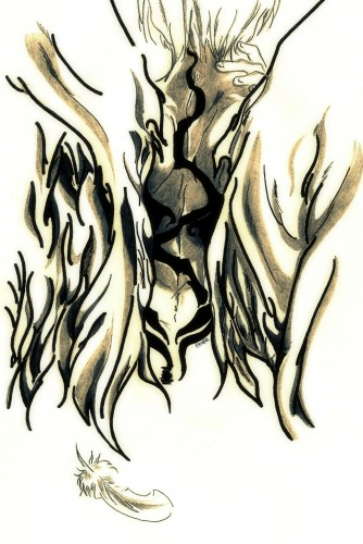 Fonds d'écran Art - Crayon Personnages Wings