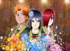 Fonds d'écran Manga Naruto tribute Yahiko,Konan,Nagato.
