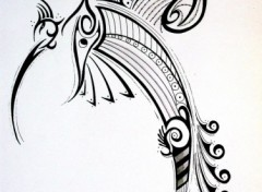 Wallpapers Art - Pencil Oiseau tribal