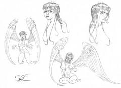 Fonds d'écran Art - Crayon Etudes personnage 01