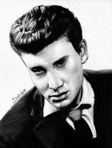 Fonds d'écran Art - Crayon Portraits Johnny Hallyday