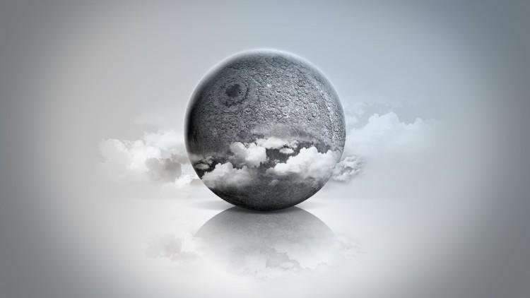 Wallpapers Digital Art 3D - Blender Lune 3D