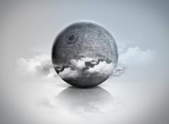 Fonds d'écran Art - Numérique Lune 3D