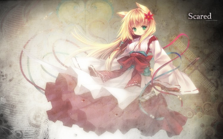 Fonds d'écran Manga Neko Girl Scared