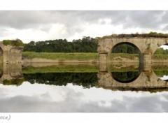 Fonds d'écran Voyages : Europe Le pont de La Roque (reflet rajouté)