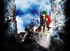 Wallpapers Manga Biker Love