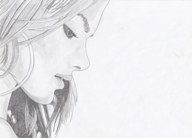Wallpapers Art - Pencil Women - Femininity Jeune Fille