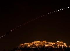Fonds d'écran Espace Eclipse sur l'acropole