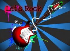 Fonds d'écran Art - Numérique Let's Rock (Blue)