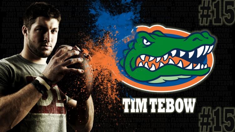 Fonds d'écran Sports - Loisirs Football Américain Tim Tebow, ancien quaterback des Florida Gators, gagnant du Heisman Trophy en 2007