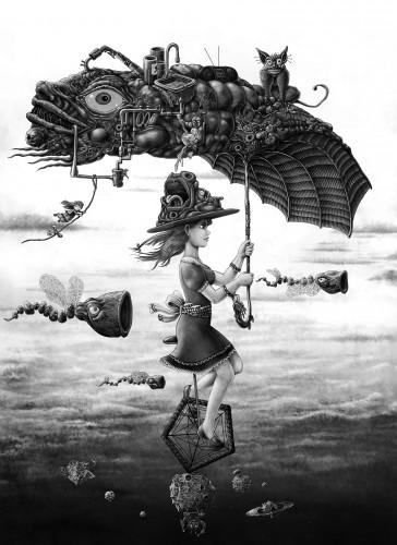 Fonds d'écran Art - Numérique Surréalisme - Symbolisme - Onirisme Mon joli parapluie