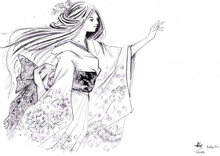 Fonds d'écran Art - Crayon Manga - Enfer et paradis Tenten