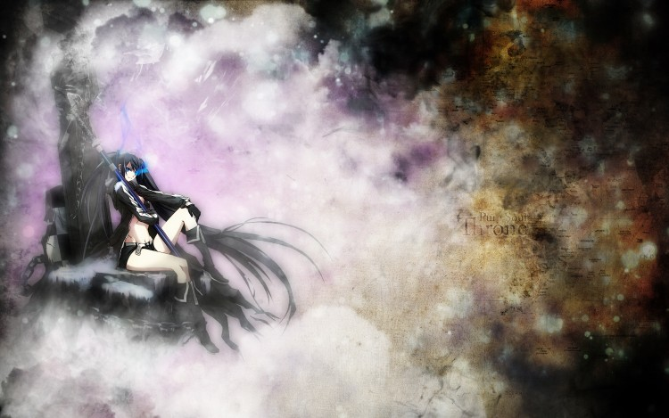 Fonds d'écran Manga Black Rock Shooter Pure Soul Throne