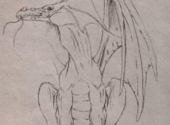 Wallpapers Art - Pencil dragon esquisse