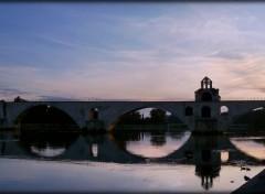 Fonds d'écran Voyages : Europe Le Pont d'Avignon au lever du soleil (84)