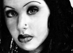 Fonds d'écran Art - Crayon Christina Aguilera