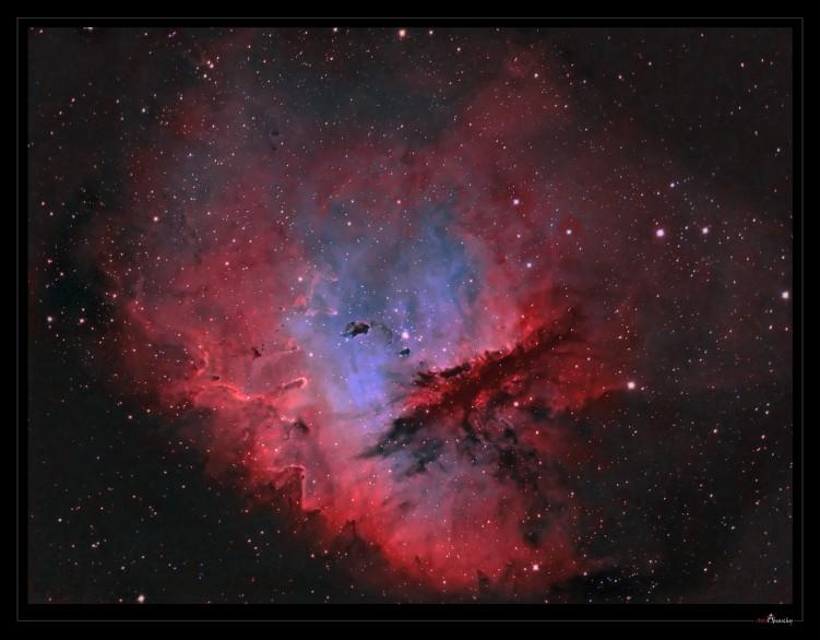 Fonds d'écran Espace Etoiles - Nébuleuses NGC 281 ou la nébuleuse Pacman