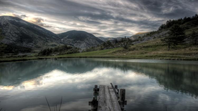 Fonds d'écran Nature Paysages Fin de journée au bord du lac