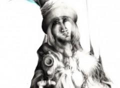 Fonds d'écran Art - Crayon L'Oiseau Bleu
