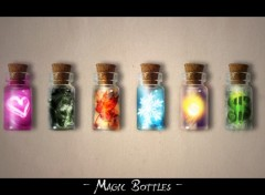 Fonds d'écran Art - Numérique Magic Bottles