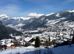 Wallpapers Nature Chatel- Village, Montagnes