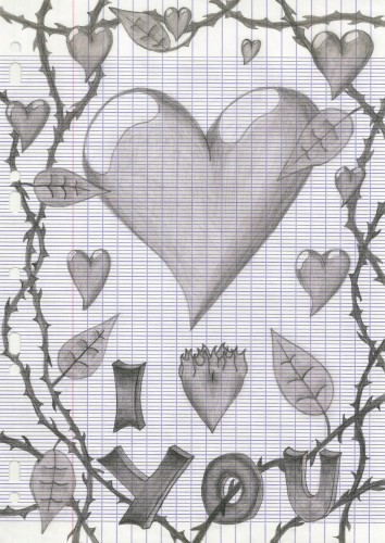 Wallpapers Art - Pencil Love - Friendship Dessin d'amour