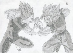 Wallpapers Art - Pencil Sangoku contre Vegeta