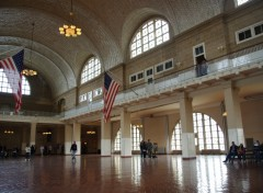 Wallpapers Trips : North America Ellis Island (Musée de l'Immigration) - Salle d'enregistrement