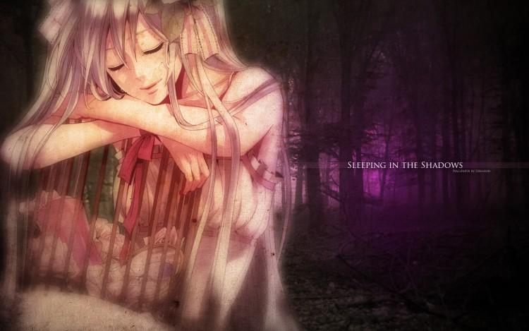 Fonds d'écran Manga Vocaloïds Sleeping in the Shadows