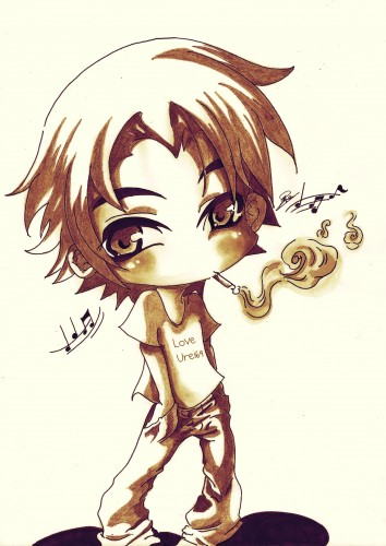 Wallpapers Art - Pencil Manga - Miscellaneous Chibi Boy