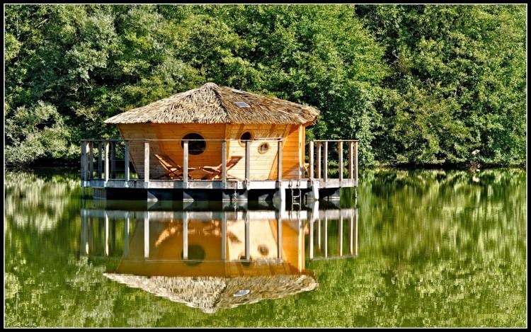 Wallpapers Constructions and architecture Wood houses Calme et volupté
