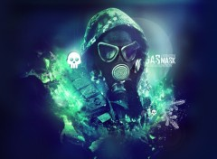 Wallpapers Digital Art Gas Mask