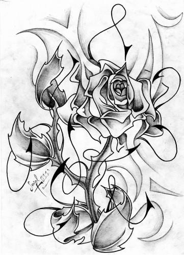 Fond D Écran Tatouage fonds d'écran art - crayon > fonds d'écran tatouages rose n&b tatoo
