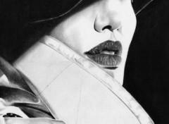 Fonds d'écran Art - Crayon Angélina Jolie